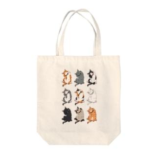 ヘソ天猫 Tote bags