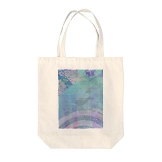 青み Tote bags