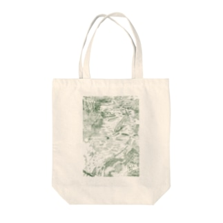 北海道の四季とミヤベイワナ Tote bags