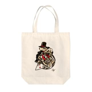 スチームパンクな奇術蛙 Tote bags