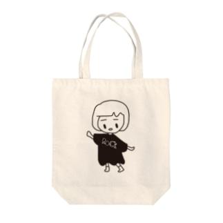 前髪心電図ちゃん Tote bags