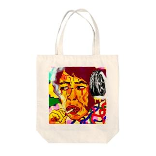 ダーティー・マインド Tote bags