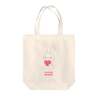 白うさぎ(ペア) Tote bags