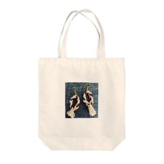 ねじりくん Tote bags