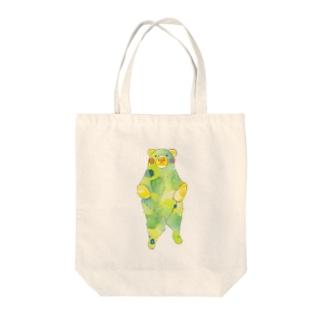 新緑くまさん Tote bags