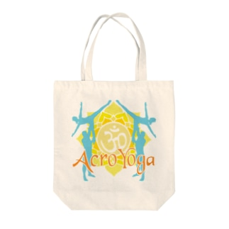 AcroYoga ColorfulOm Tote bags