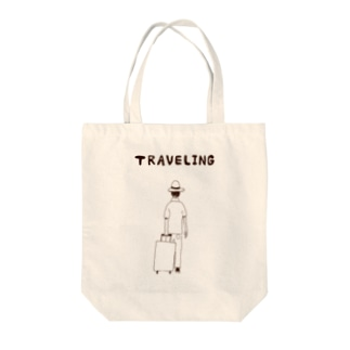 TRAVELING<旅行中> Tote bags