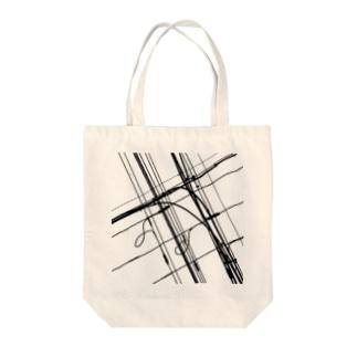 電線9 Tote bags