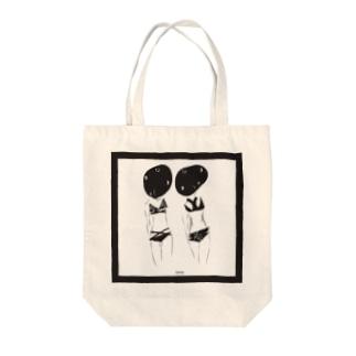 時を書ける少女 Tote bags