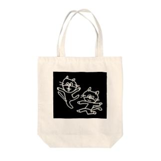 ねこレンジャー Tote bags