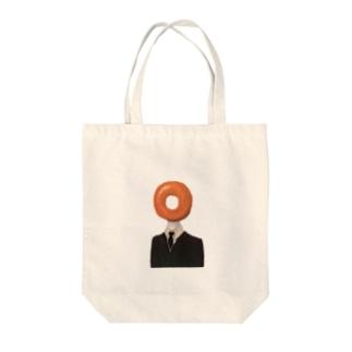 ドーナツさん Tote bags