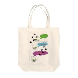 じゃじゃ猫 Tote bags