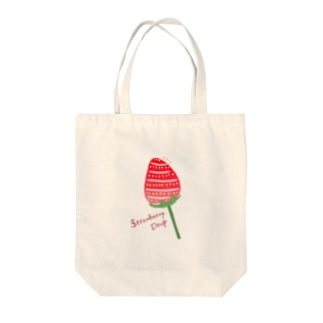 Strawberry Drop Tote bags