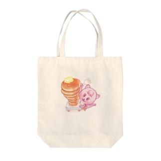 PNの食いしん坊ネコ Tote bags