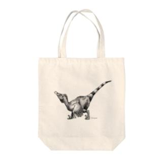 ヴェロキラプトル(モノクロ) Tote bags