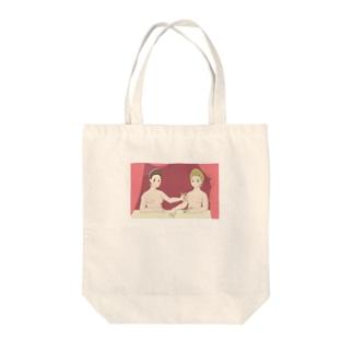 フォンテーヌブロー派 「ガブリエル・デストレとその妹」 Tote bags