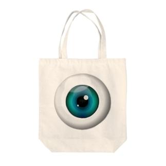 PB-EYEBALL ブルー Tote bags