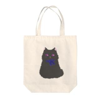 Gray Cat  Tote bags
