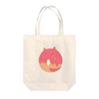 Doughnut Cat Tote bags