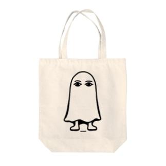 エジプトの神様★メジェドさま★仁王立ち-モノクロ Tote bags