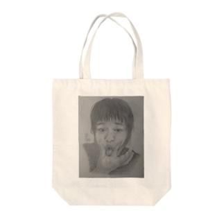 天神変顔  ひよこ Tote bags