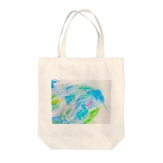 余白の海へすすむ魚𓆛𓆜𓆝𓆞𓆟 Tote bags