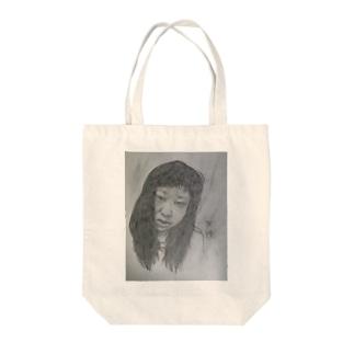 天神髪ボサ Tote bags