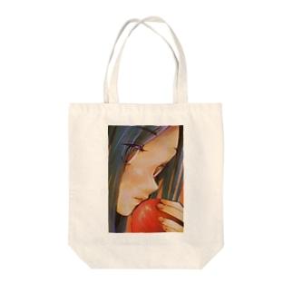 少女とりんご Tote bags