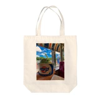 ブルーシール Tote bags