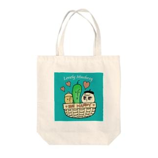 Lovely Mushrey: Be Happy Tote Bag