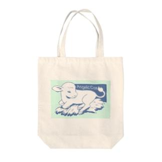 Angelic Calf ブルー Tote bags