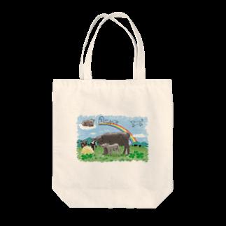 うしちゃんグッズのWe hope… Tote bags
