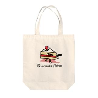 ショートケーキポリス Tote bags