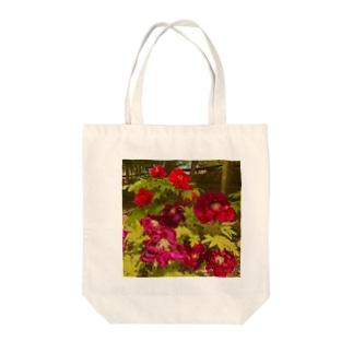 【トートバッグ】紅い牡丹 Tote bags