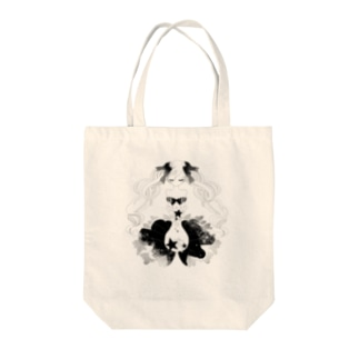 twin α Tote bags
