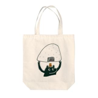ヨイショッ Tote bags