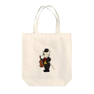 バイオリン奏者のネコ Tote bags