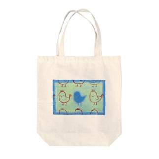 もしもし・小鳥 Tote bags