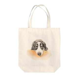 犬絵ペン画 バーニーズ #1 Tote bags
