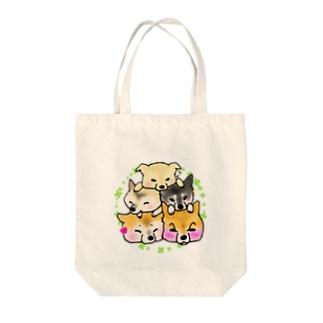 犬ツムツム Tote bags