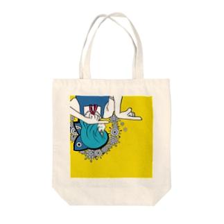 マトリョシカチルノ Tote bags