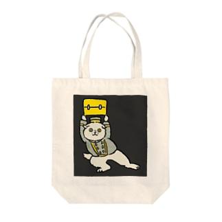 頼もしい猫のポーター Tote bags