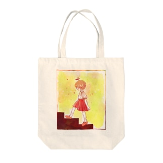 階段を上るコトノハちゃん Tote bags