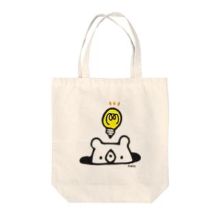 しろくまの発明 Tote bags