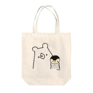 しろくま&ペンギン Tote bags