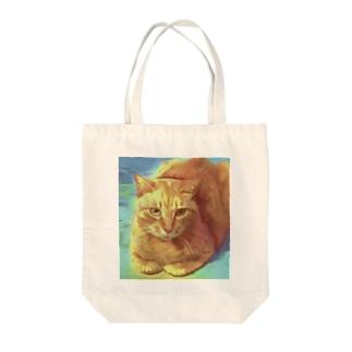 近所のねこさん Tote bags