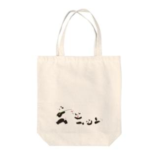 風鈴パンダ Tote bags