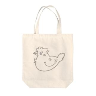 鳥←ジュウシマツ Tote bags