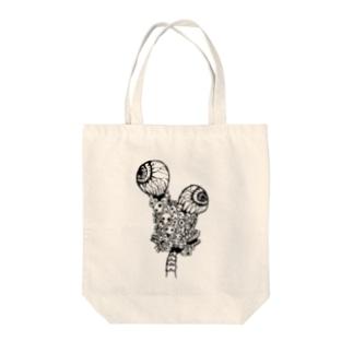 ガイコツコツくん(しろ) Tote bags