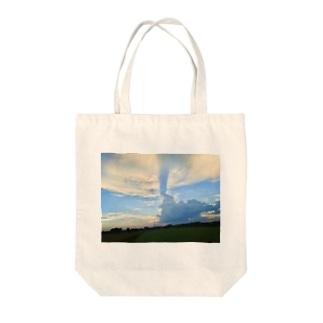 local sky Tote bags